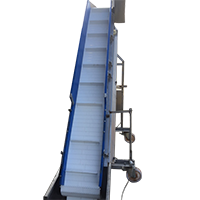 INCLINE CONVEYOR with flights